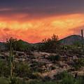 Colorful Desert Skies At Sunset  by Saija Lehtonen