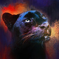 Colorful Expressions Black Leopard by Jai Johnson