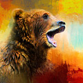 Colorful Expressions Grizzly Bear 2 by Jai Johnson