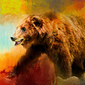 Colorful Expressions Grizzly Bear by Jai Johnson