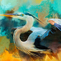 Colorful Expressions Heron by Jai Johnson