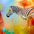 Colorful Expressions Zebra by Jai Johnson