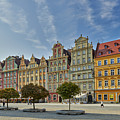 colorful facades on Market Square or Ryneck of Wroclaw by Juergen Ritterbach