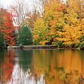 Colorful Fall Foliage Ossipee Lake New Hampshire by George Oze