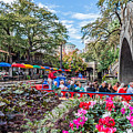 Colorful Festival Along River Walk by Tod and Cynthia Grubbs