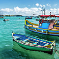 Colorful Fishing Boats by Tsafreer Bernstein