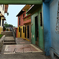 Colorful Guayaquil Alley by Catherine Sherman