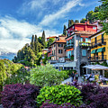 Colorful Harborfront In Varenna by Carolyn Derstine