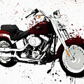 Colorful Harley Davidson Paint Splatter by Dan Sproul