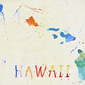 Colorful Hawaii Map by Dan Sproul