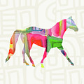 Colorful Horse 1- Art By Linda Woods by Linda Woods