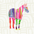 Colorful Horse 2- Art By Linda Woods by Linda Woods