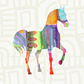 Colorful Horse 3- Art By Linda Woods by Linda Woods