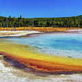 Colorful Hot Spring In Yellowstone by Carolyn Derstine