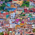 Colorful Houses In Guanajuato - Digital Paint by Tatiana Travelways