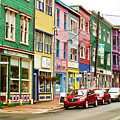 Colorful Houses In St Johns In Newfoundland by Les Palenik