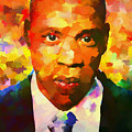 Colorful Jay Z Palette Knife by Dan Sproul
