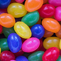 Colorful Jelly Beans Square by Terry DeLuco