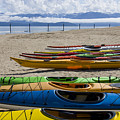 Colorful Kayaks by Idaho Scenic Images Linda Lantzy