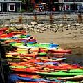 Colorful Kayaks by John Kenealy