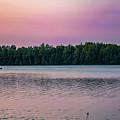 Colorful Lake-side Sunset by Maxwell Dziku