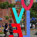 Colorful Love Sign In Kaohsiung by Yali Shi