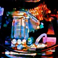 Colorful Machine In Blue And Purple by Brenda Plyer