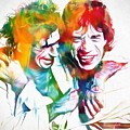 Colorful Mick And Keith by Dan Sproul