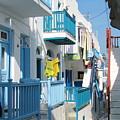 Colorful Mykonos by Carla Parris