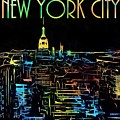 Colorful New York City Skyline by Dan Sproul