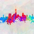 Colorful New York Skyline by Alex Antoine