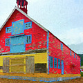Colorful Old Barn by Les Palenik