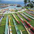 Colorful Outrigger Canoes by Joss - Printscapes
