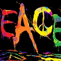 Colorful Peace Cat by Nick Gustafson