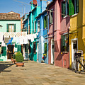 Colorful Piazza by Prints of Italy