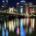 Colorful Pittsburgh Lights by Frozen in Time Fine Art Photography