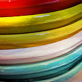 Colorful Plates by Bonnie Bruno