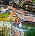 Colorful Pool In The Gorge Of Watkins Glen by Karen Jorstad