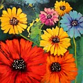 Colorful Poppy Warm No.1 by Carole Sluski