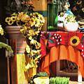 Colorful Restaurant Bucerias by Chuck Kuhn
