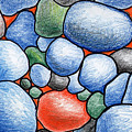 Colorful Rock Abstract by Nancy Mueller