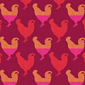 Colorful Roosters- Art By Linda Woods by Linda Woods