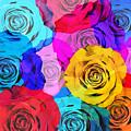 Colorful Roses Design by Setsiri Silapasuwanchai