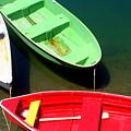 Colorful Row Boats by John Kenealy