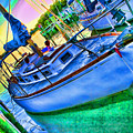 Colorful Sailboat by Barry Craft