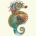 Colorful Seahorse by Becky Herrera