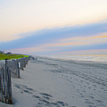 Colorful Skies On The Beach In Stone Harbor by Bill Cannon
