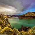 Colorful Skies Over Lake Owyhee by Penny Miller