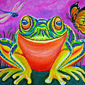 Colorful Smiling Frog-voodoo Frog by Nick Gustafson