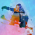 Colorful Snowboarder Paint Splatter by Dan Sproul
